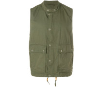 buttoned gilet