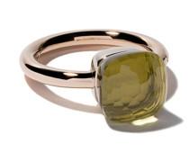 18kt rose & white gold medium Nudo lemon quartz ring