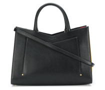 pleated side tote bag