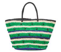 Große Handtasche mit gestreiftem Muster