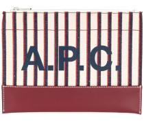 A.P.C. Clutch mit Logo-Print