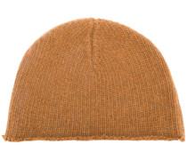 raw hem knitted cap