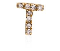 18kt 'T' Gelbgoldanhänger mit Diamanten