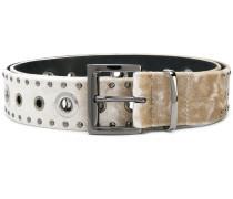 silver-tone studded belt