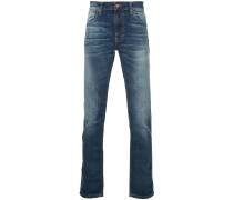 Schmale Stone-Wash-Jeans