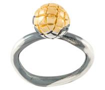 'Intrecciato' Ring mit Gravur