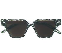 Gemusterte Sonnenbrille mit eckigem Gestell