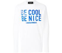 """Langarmshirt mit """"Be Cool Be Nice""""-Print"""