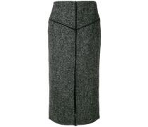 Tweed-Bleistiftrock
