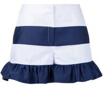Gestreifte Shorts mit gerüschtem Saum