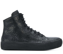 High-Top-Sneakers aus strukturiertem Leder