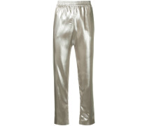 Tapered-Hose im Metallic-Look