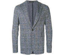 unstructed checked blazer