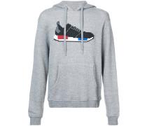 "Kapuzenpullover mit ""Sneaker""-Print"