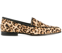 leopard printed loafers
