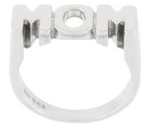 Rhodinierter 'Mom' Ring aus Sterlingsilber