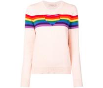 Intarsien-Pullover mit Regenbogen