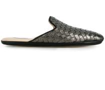 argento antique Intrecciato furrow metal fiandra slipper