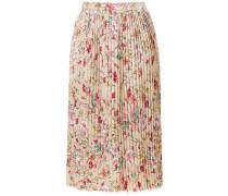 linen printed skirt