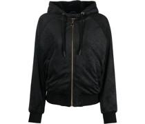 floral-print sheer blouse