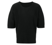 structured sleeves ribbed jumper
