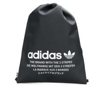 logo print drawstring backpack