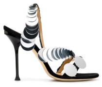 large sequin sandals