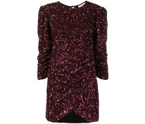 sequinned ruched dress