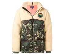 Jacke mit Camouflage-Einsatz