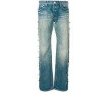 side pearl jeans