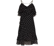 polka dot ruffle mini dress