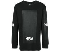 Sweatshirt mit glitzerndem Print