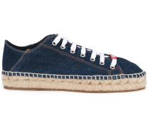 Jeans-Sneakers mit Espadrille-Sohle