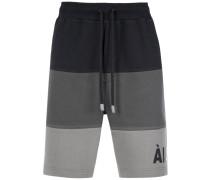 striped sweat bermuda shorts