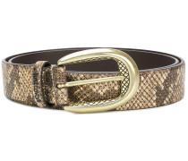 snakeskin effect belt