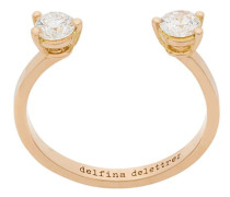 18kt champagne gold Dots diamond ring