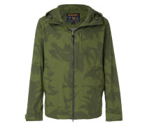 camouflage print hooded jacket