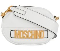Schultertasche mit Logo-Schild