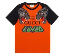 Oversized-T-Shirt mit Tigern