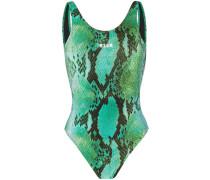Badeanzug mit Schlangenleder-Print