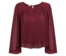 pleated boxy blouse
