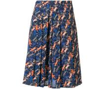 cat print pleated skirt