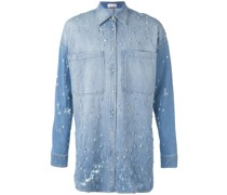 Langes Hemd mit Kristallverzierung