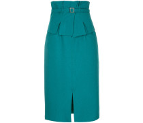 belted fitted pencil skirt