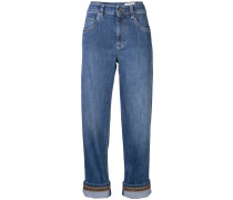 Boyfriend-Jeans im Cropped-Design