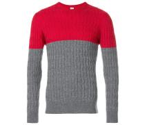 Kaschmir-Pullover in Colour-Block-Optik