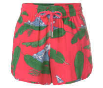 wave and palm leaf shorts