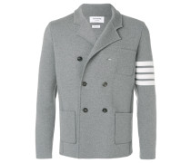 4-Bar Stripe Double-Breasted Merino Wool Sport Coat