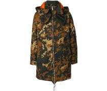 Oversized-Parka mit Camouflage-Print