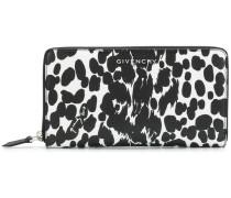 spot print zip purse